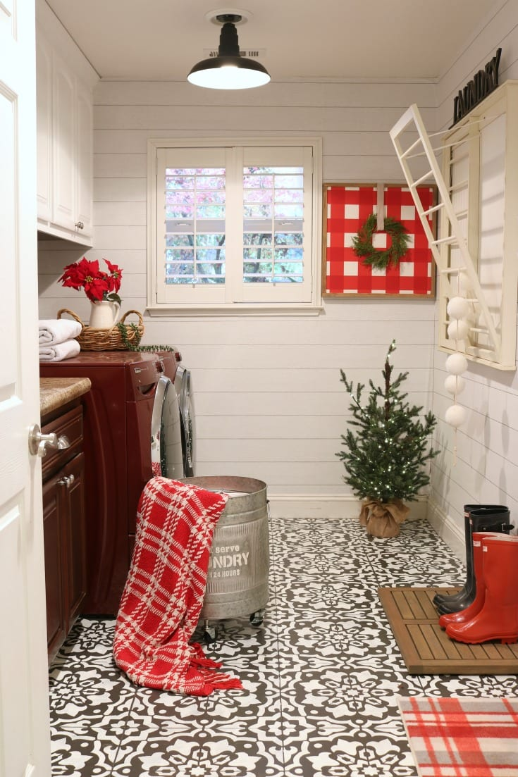 Christmas home tour Laundry room