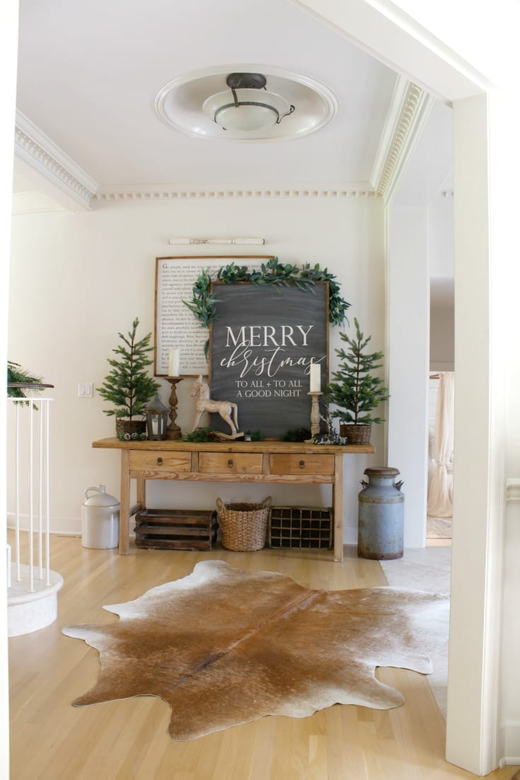 farmhouse style vintage holiday decor