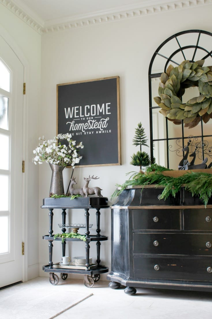 Christmas holiday entryway wreath