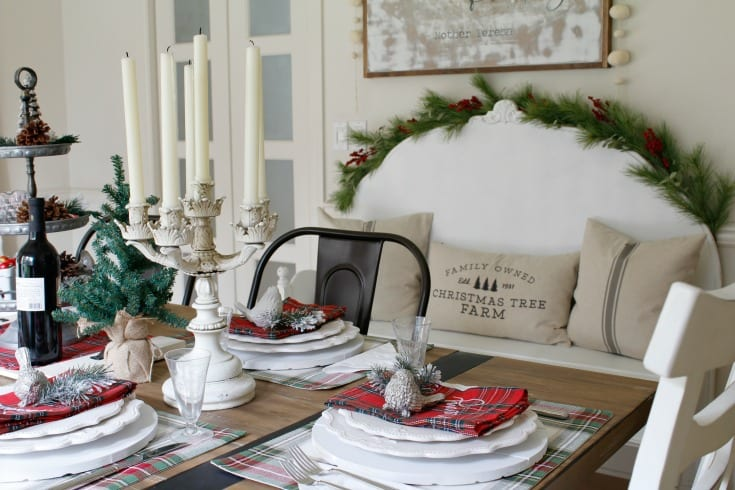 Festive farmhouse holiday table