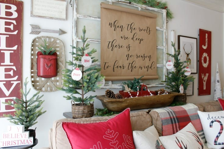 vintage inspired Christmas Decorating