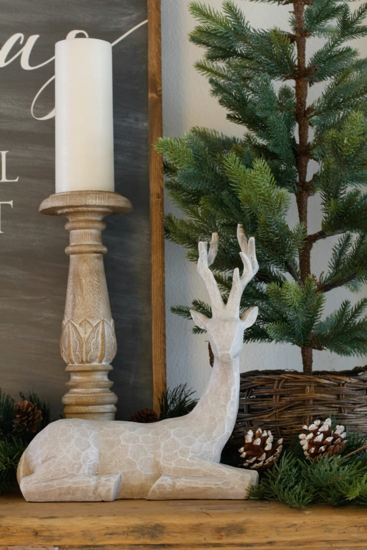 Christmas decorating reindeer rustic style