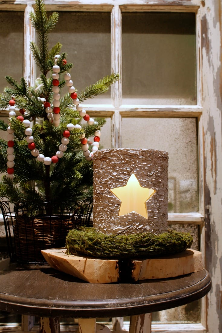 holiday star candle votive gift idea