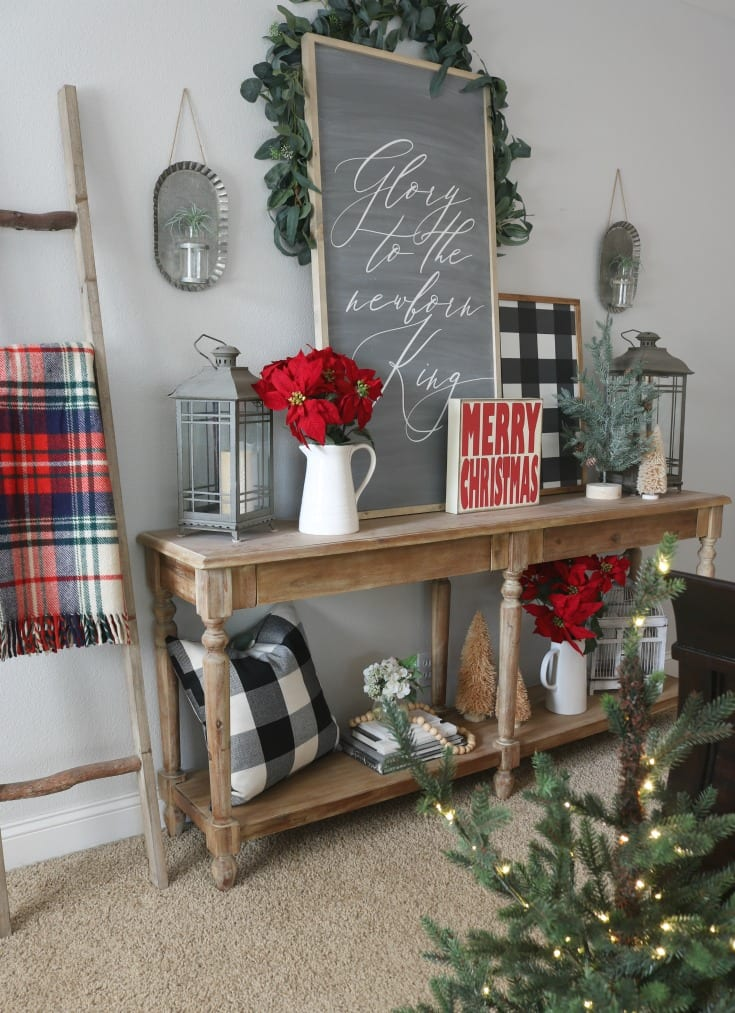 Festive Christmas Home Tour bedroom details