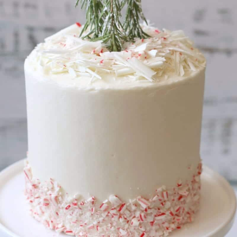 How to Make White Peppermint Holiday Cake