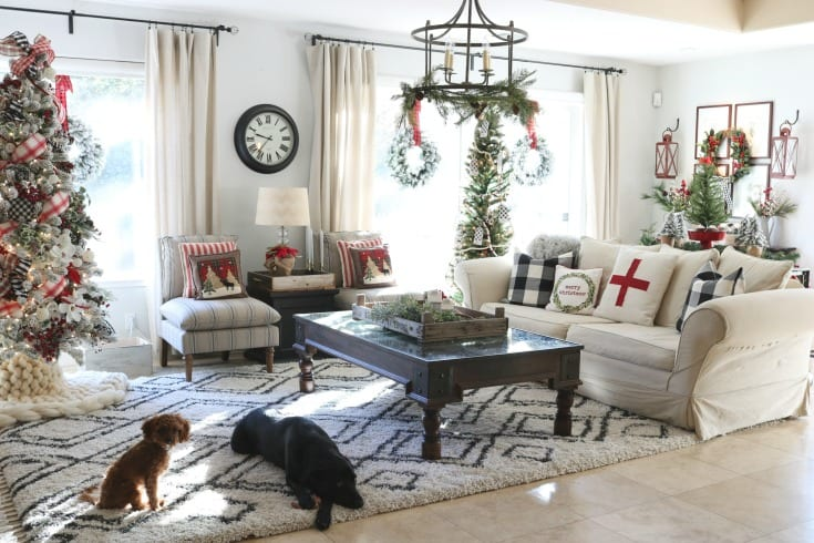 Holiday home tour cozy christmas decorating