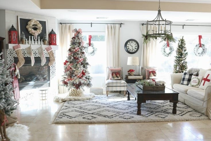 Christmas home tour holiday decorating