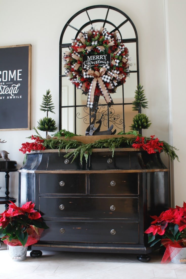 Festive Holiday Entryway Welcome