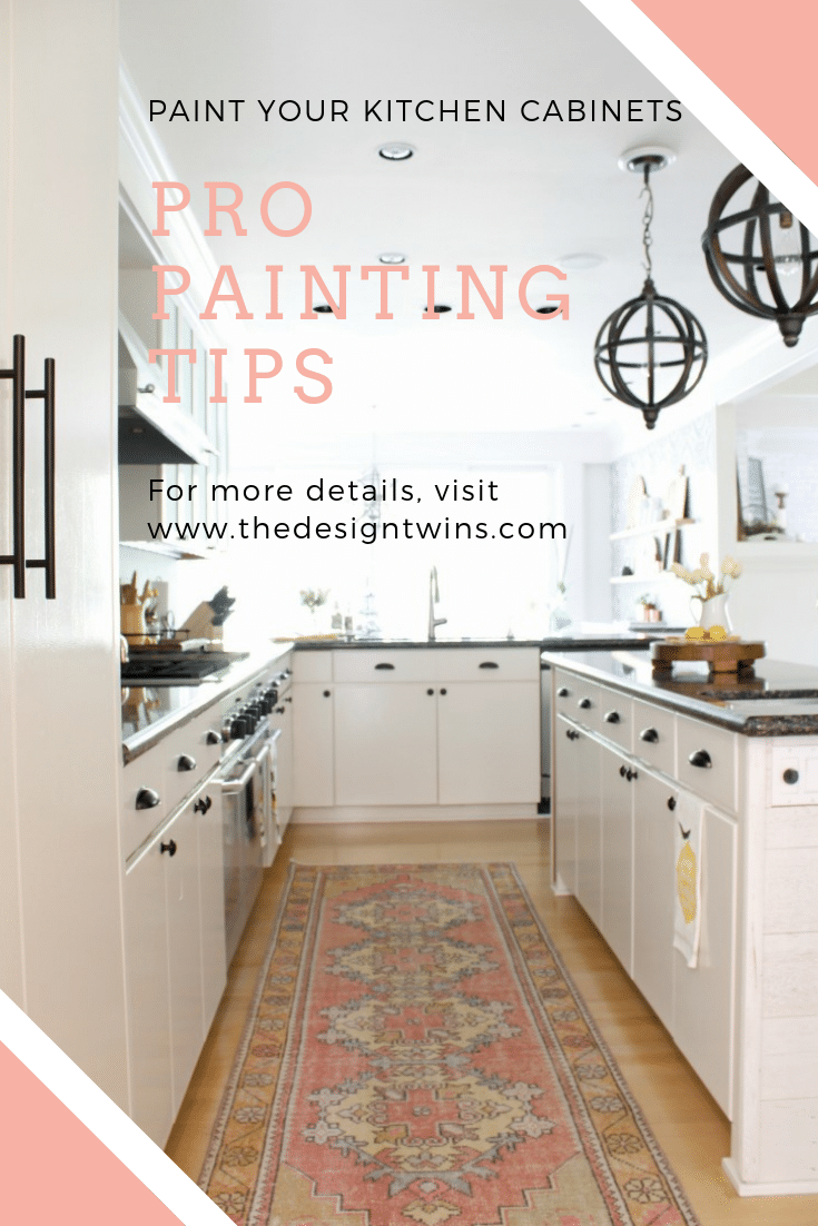 How to Paint Cabinets: Pro Painting Tips - The Design Twins Ideas Painting Your Kitchen Cabinets on painting kitchen cabinets white, painting your walls ideas, kitchen painting and decorating ideas, painting kitchen cabinets two colors, living room paint ideas, painting kitchen tiles ideas, painting cupboards, painting your fireplace ideas, painting your home ideas, painting old particle board cabinets, painting kitchen cabinets dark, painting kitchen cabinets without sanding, painting tiles in kitchen,