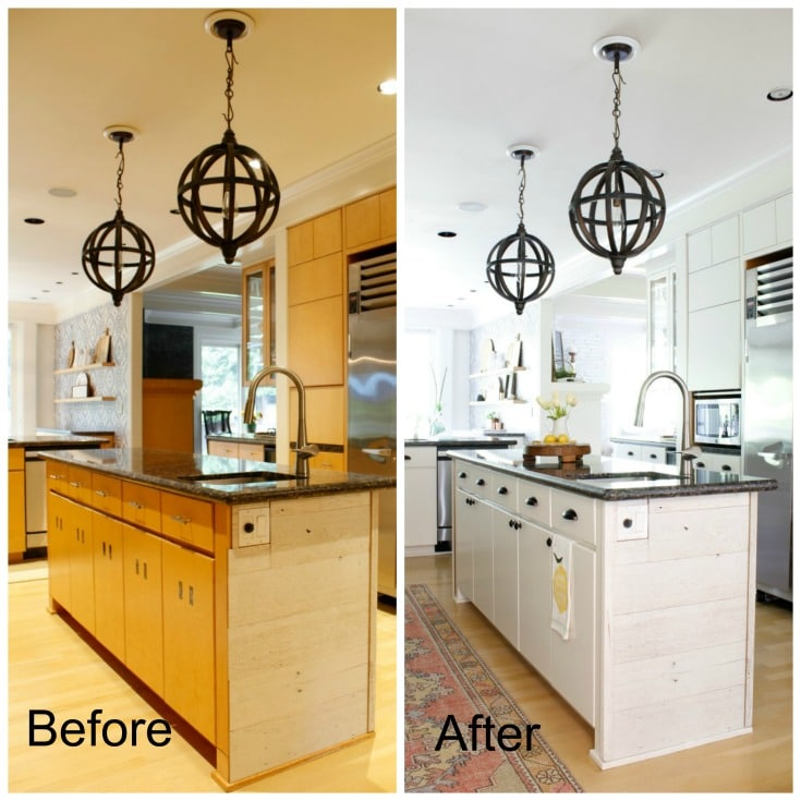 Before After Kitchen Island - The Design Twins