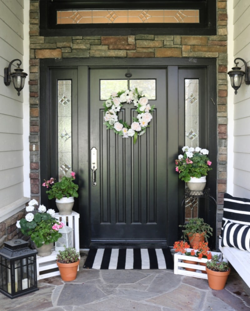 Black And White Front Door - The Design Twins