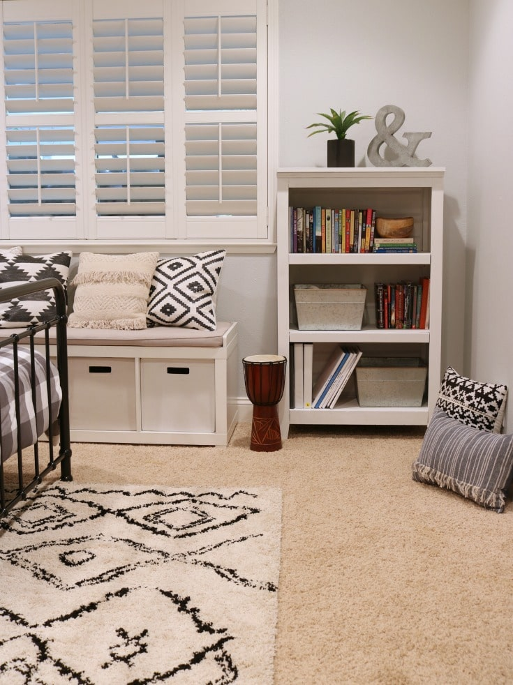 Fresh gray paint gives neutral palette for kids room