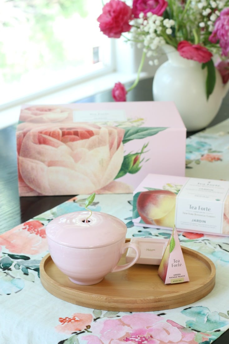 pink tea party table display