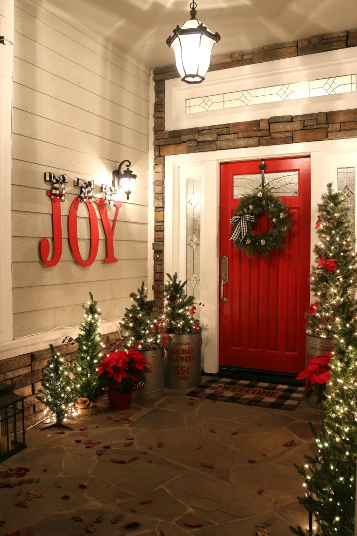 Best tips for painting plus create Christmas joy with red door and decor