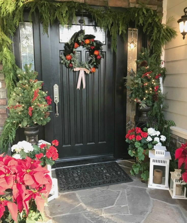How to choose colors, what paint to use. All your questions answered! How to decorate your front door for Christmas