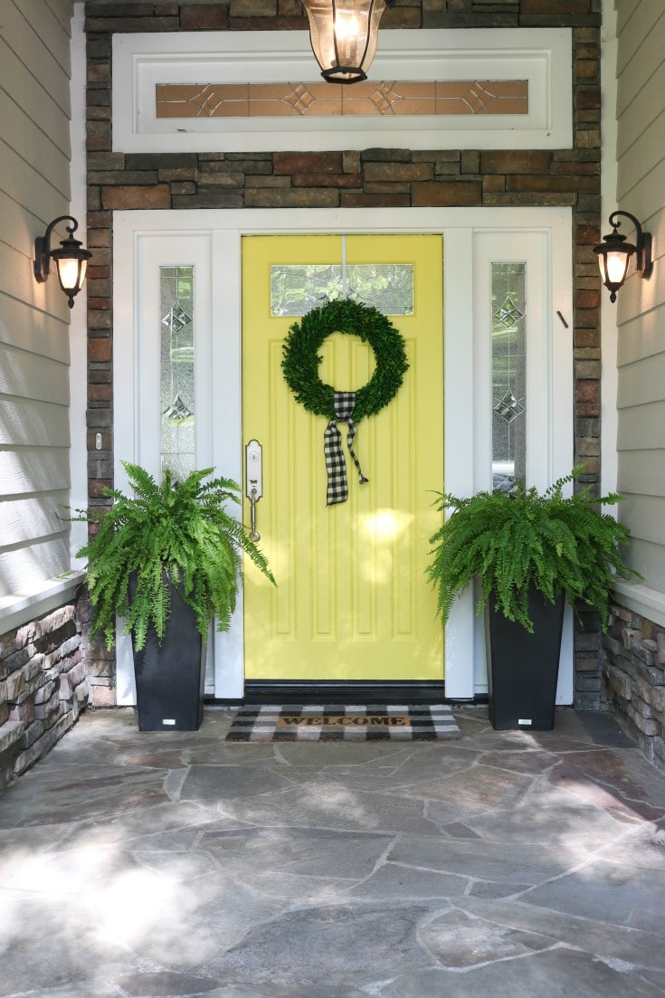 Best tips for painting plus step by step process for how to repaint your front door.
