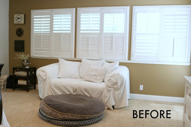 Before and after photo reveals huge change in master bedroom