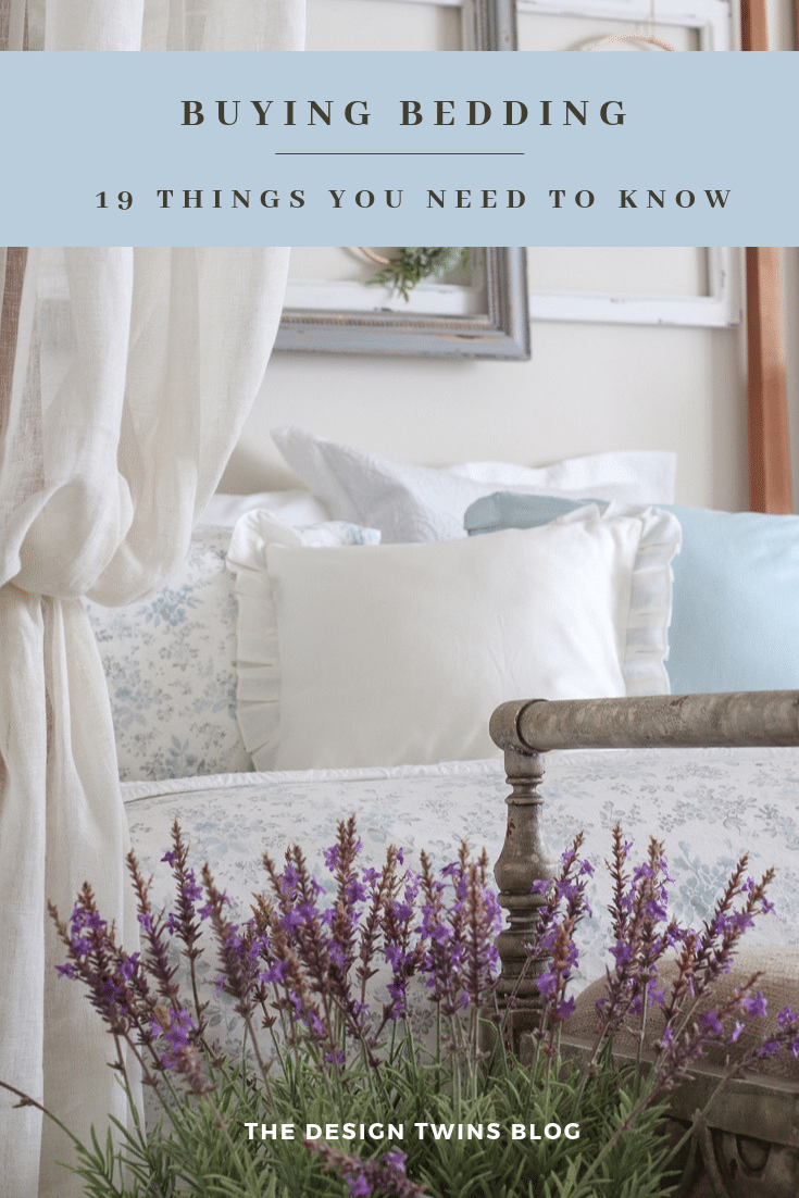 romantic bedding refresh with beautiful floral print comforter sheets and pillows with lavender and sheer drapes