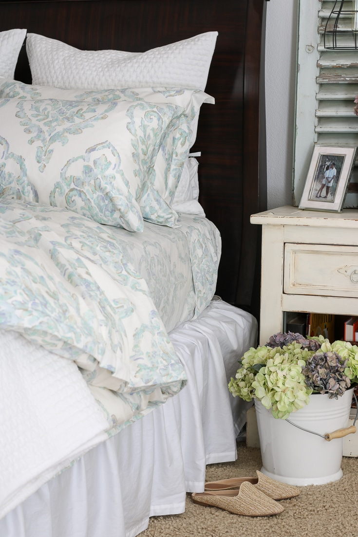 romantic bedroom details include luxurious pillows sheets and bedding