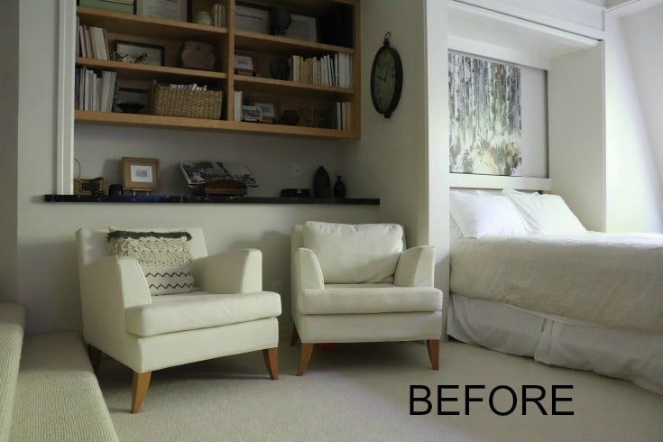 Before photo bedroom style makeover