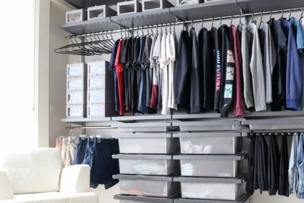 custom closet adds style and storage solution