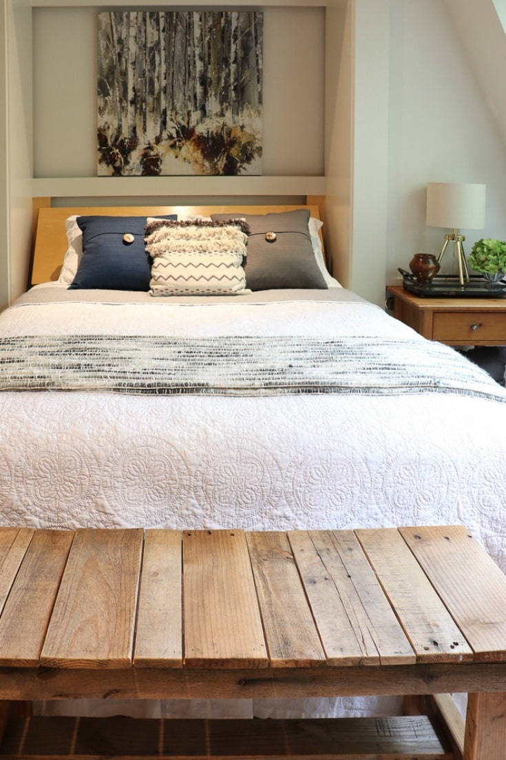 bedroom style makeover sparks joy with new modern decor details