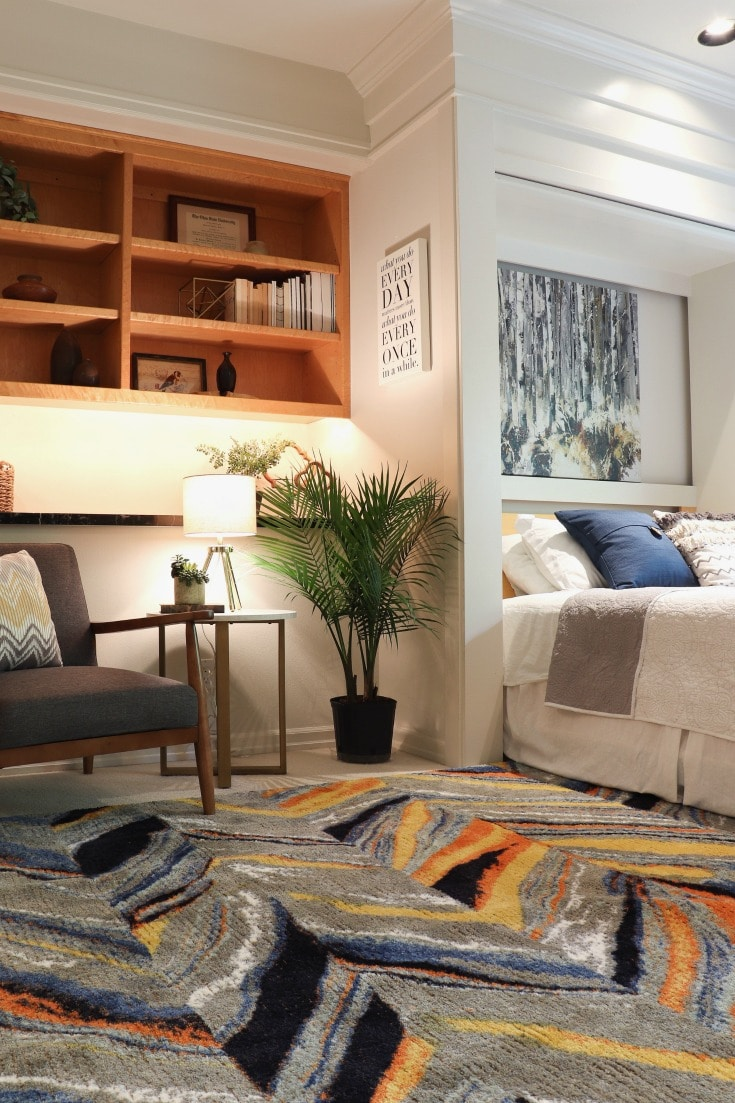 budget bedroom makeover embraces color and fresh modern style