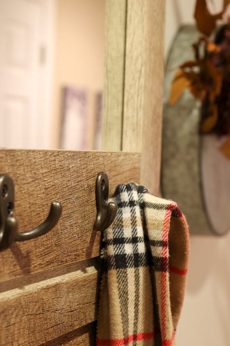 Solve your Entryway problems with stylish bench and storage unit with coat hooks