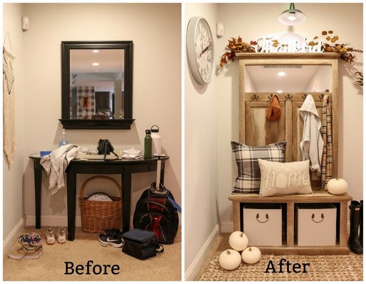 Transform your entryway with budget functional decor and storage ideas