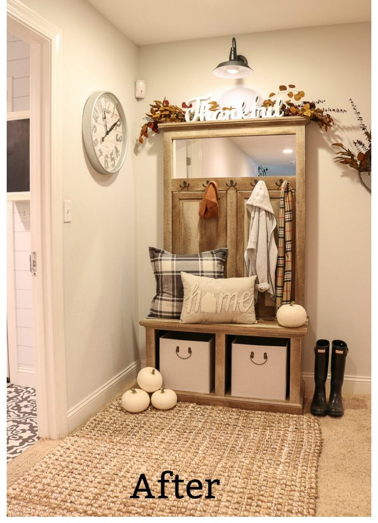 Budget Ideas Solve entryway storage and decorating problems