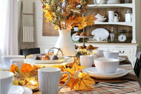 Pumpkin spice up your fall entertaining with a gorgeous festive tablescape!