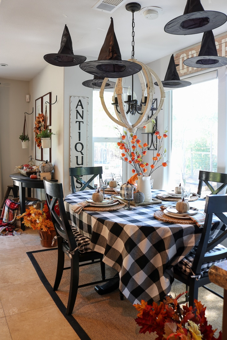 Halloween decor that is whimsy and festive and doesn't cost a lot!