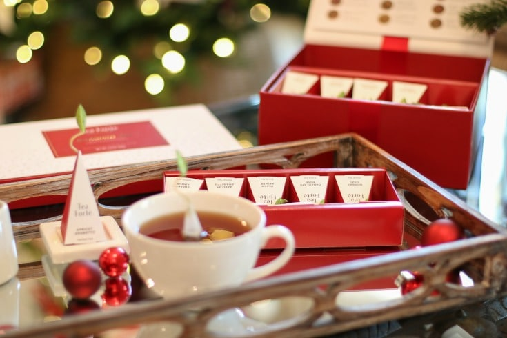 Relax and Enjoy the best of the holiday season when you share Warming Joy from Tea Forte with friends and family