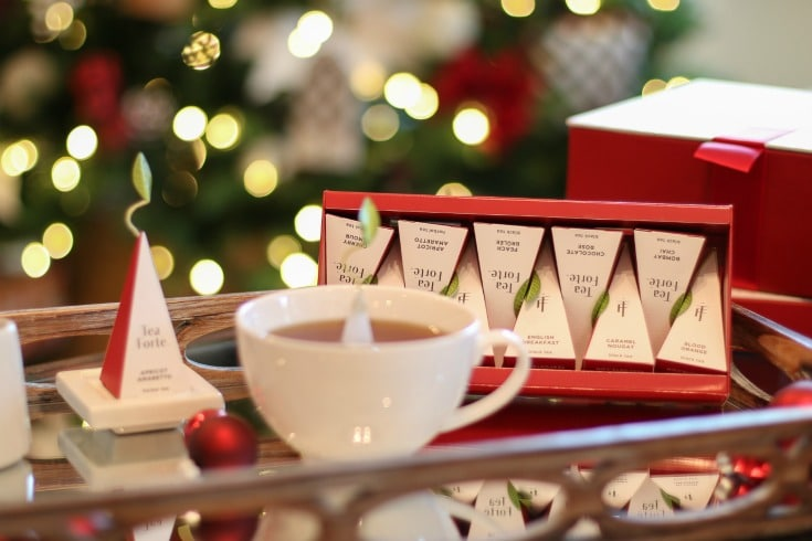 Add Christmas cheer to every gathering when you serve Warming Joy tea collection from Tea Forte