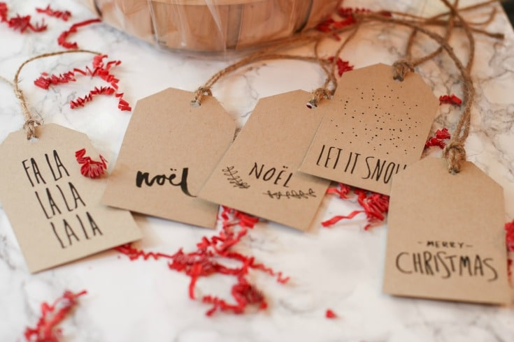 easy DIY gift tags with free printable gift tags and twine