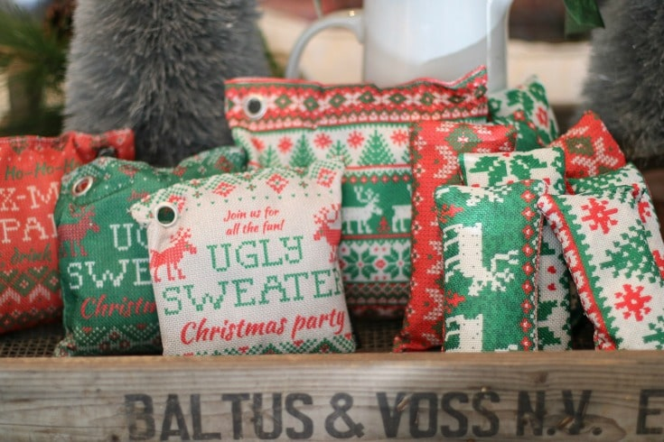 Bisou Natural holiday air-purifying bags perfect for gift giving or home decor