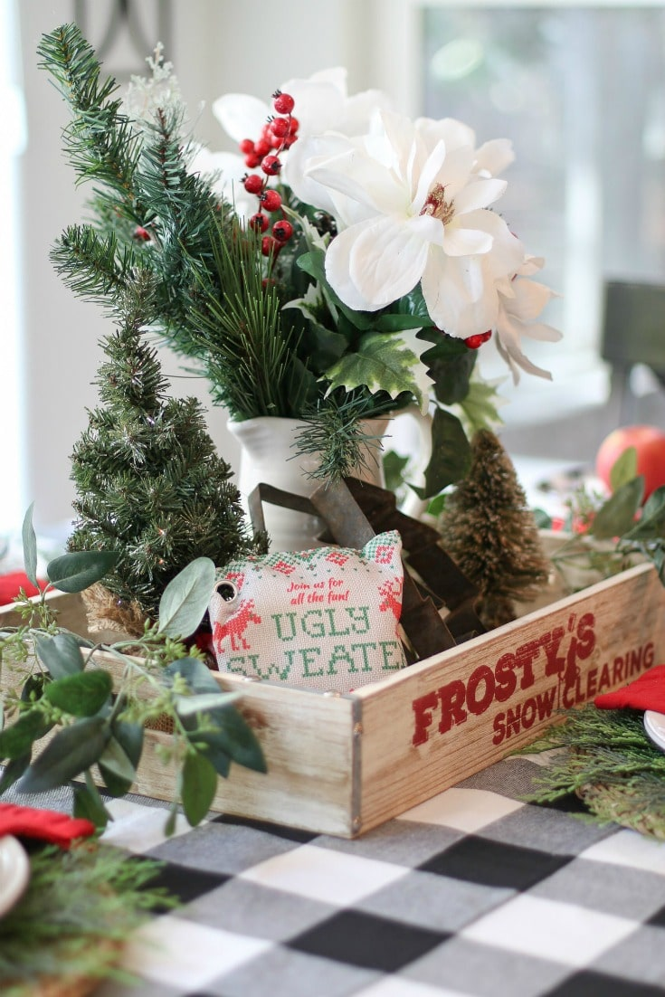 Add air purifying bags to your holiday centerpiece or tablescape