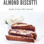 Delicious Chocolate Chip Almond Biscotti cookies