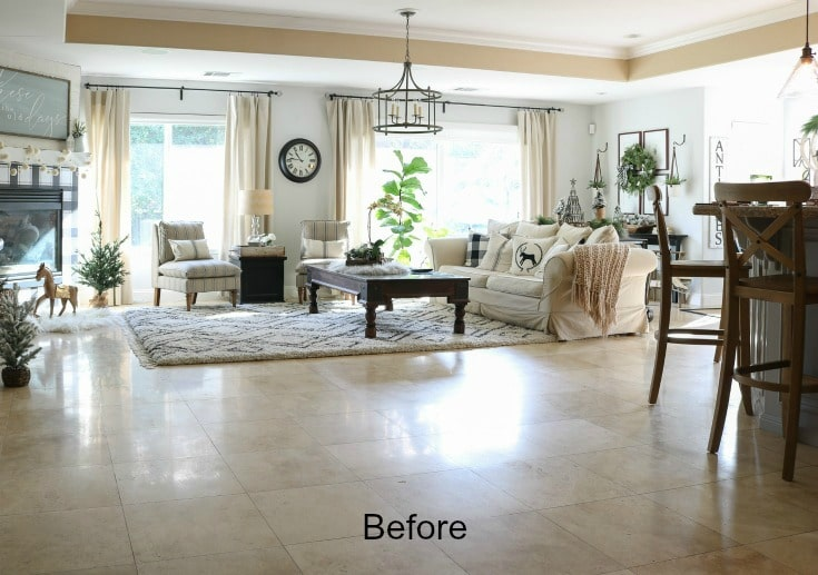 great room before and after refresh