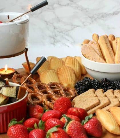 Create a fun and unique Charcuterie Board with Chocolate Fondue