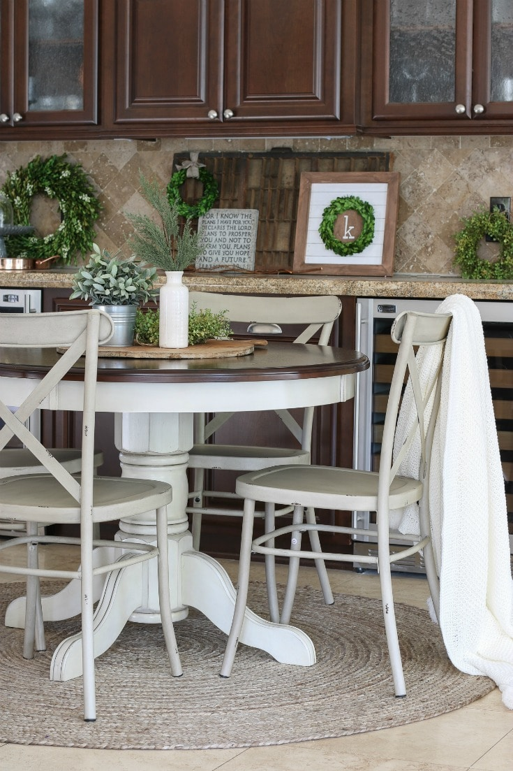 table and chair set from Better Homes & Gardens adds new eating area and optimizes space