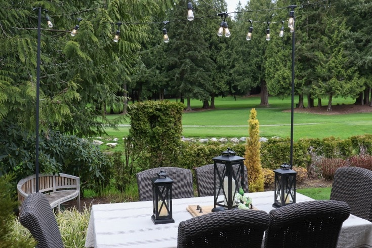 take your backyard space to the next level with outdoor lighting