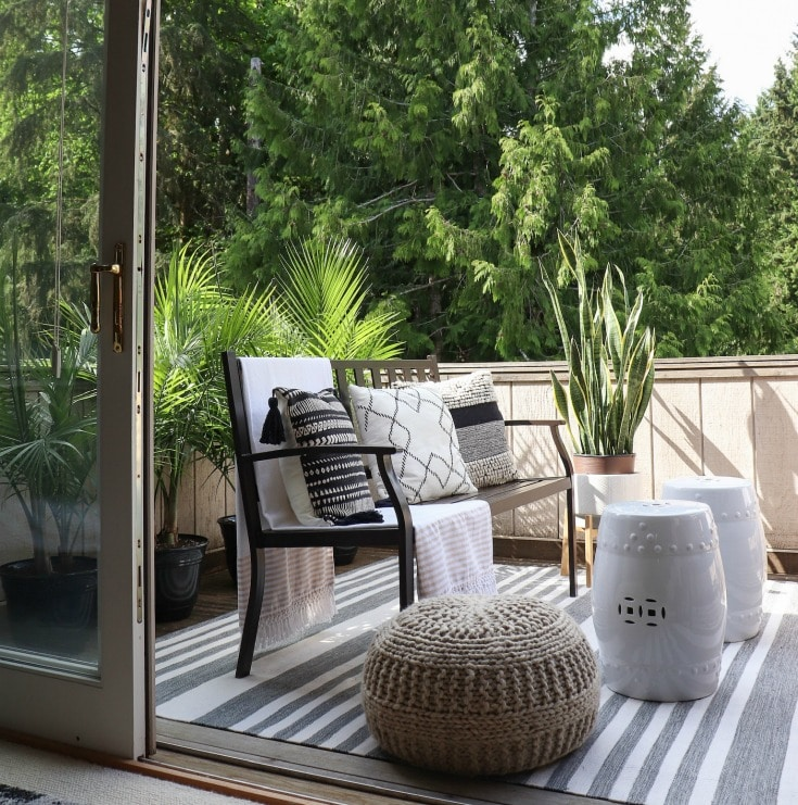 budget-friendly small outdoor patio makeover