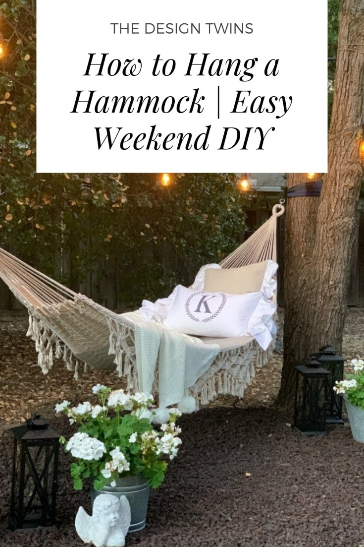 Hammock hanging tips for easy weekend DIY project