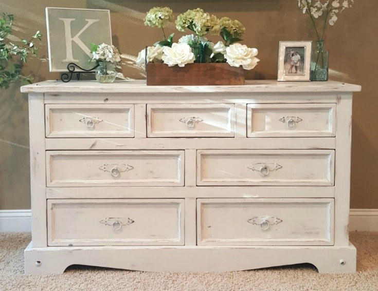 chalk painted dresser DIY painting project