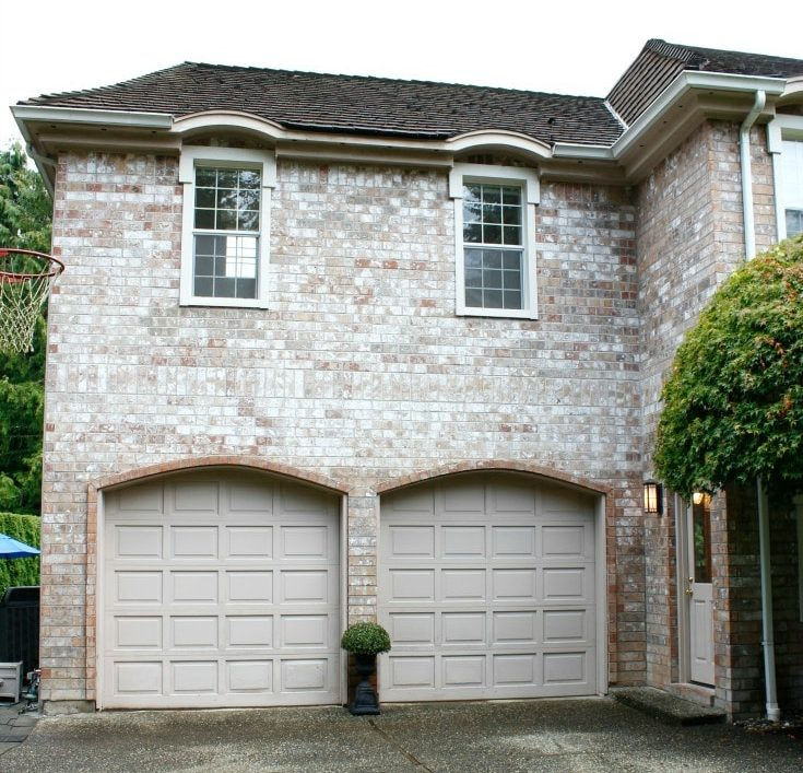 outside exterior painted garage DIY painting
