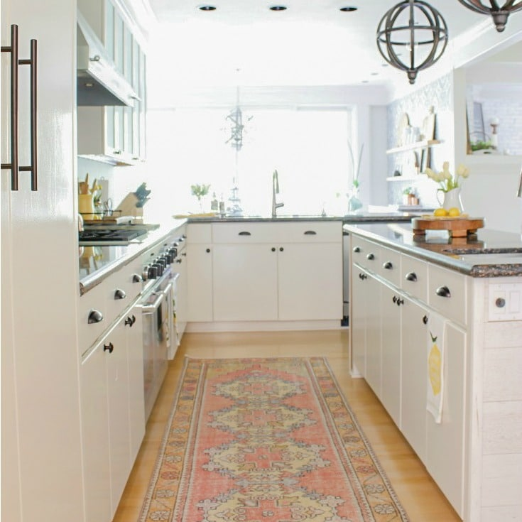 white kitchen painted cabinets DIY painting