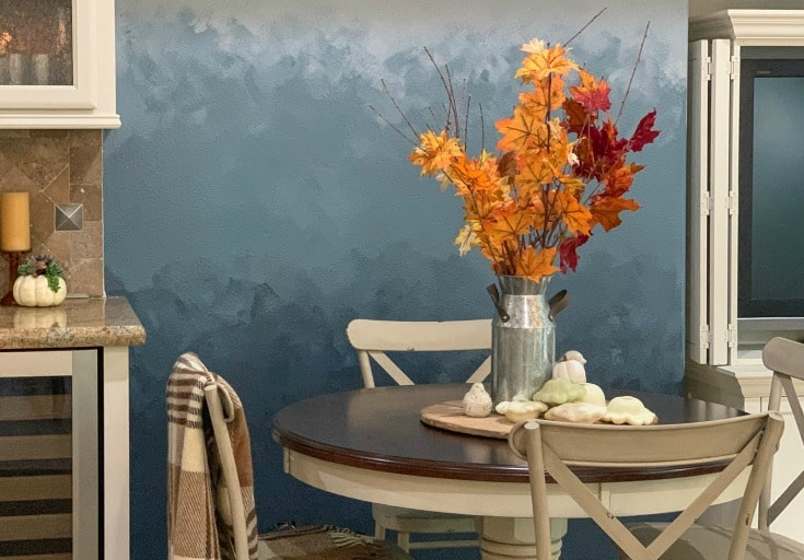 stunning blue ombre paint wall