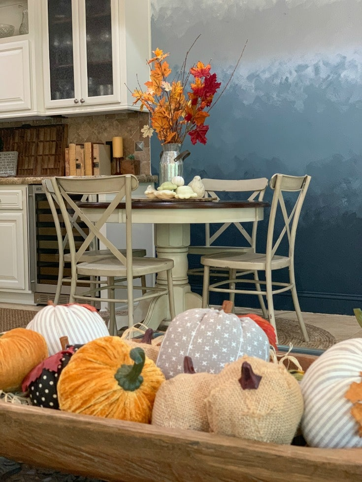 beautiful blue ombre wall art perfect for fall