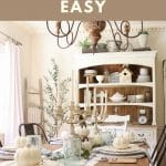 fall decorating for your dining room
